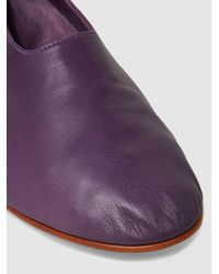 Martiniano - Purple Glove Leather Flats - Lyst