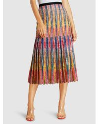 Saloni - Multicolor Diana-c Fit-and-flare Skirt - Lyst