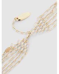 Lanvin | Metallic Gold-plated Multi-strand Crystal Necklace | Lyst