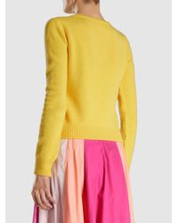 Alberta Ferretti - Yellow Thursday Crewneck Sweater - Lyst