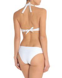 Heidi Klein - White Ribbed Low-rise Bikini Briefs - Lyst