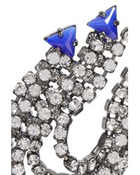 Elizabeth Cole - Metallic Raakel Gunmetal-tone Stone And Crystal Earrings - Lyst