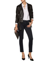 J Brand - Blue 835 Mid-rise Cropped Skinny Jeans - Lyst