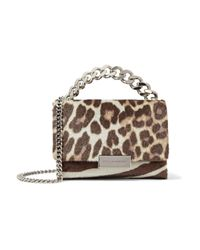 Stella McCartney | Brown Small Zebra And Leopard-print Faux Calf Hair Shoulder Bag Animal Print | Lyst