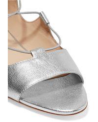 Loeffler Randall | Dani Lace-up Metallic Leather Sandals | Lyst