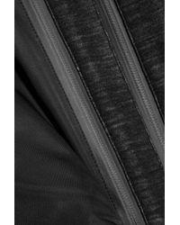 DKNY - Black Shell Hooded Coat - Lyst