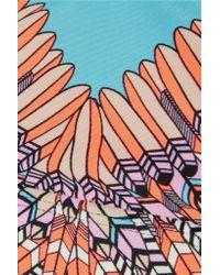 Mara Hoffman - Blue Skybird Printed Stretch-jersey Sports Bra - Lyst