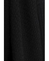 7 For All Mankind - Black Stretch-knit Cardigan - Lyst