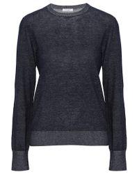 Equipment | Blue Shane Cotton And Linen-blend Sweater | Lyst