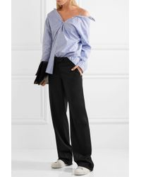 Stella McCartney - Black Jasmine Wool-twill Wide-leg Pants - Lyst