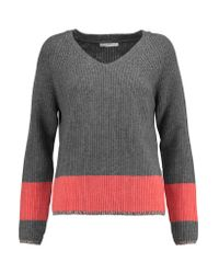 Duffy | Gray Ribbed Wool And Cashmere-blend Sweater | Lyst