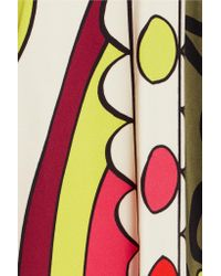 RED Valentino - Multicolor Printed Crepe Midi Skirt - Lyst