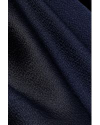 Roksanda - Blue Woman Ilya Hammered Silk-satin Top Navy - Lyst