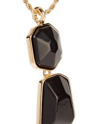 Kenneth Jay Lane - Metallic Gold-tone Stone Necklace - Lyst