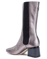 Sigerson Morrison - Woman Eartha Metallic Leather Boots Metallic - Lyst