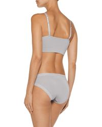 Yummie By Heather Thomson - Gray Darcy Convertible Stretch-jersey Soft-cup Bra - Lyst