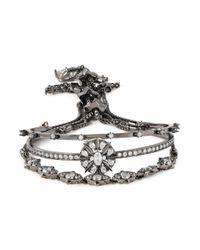 Noir Jewelry - Metallic Gunmetal-tone Crystal Bracelet - Lyst