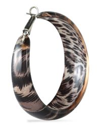 Kenneth Jay Lane - Multicolor Silver-tone And Leopard-print Acetate Earrings Animal Print - Lyst