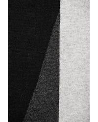 Magaschoni   Black Color-block Cashmere Scarf   Lyst