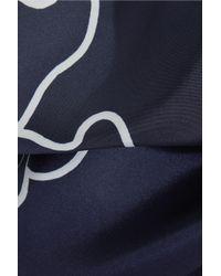 Stella McCartney - Blue Thanks Girls Wrap-effect Printed Silk-satin Twill Pants - Lyst