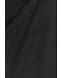 Iris & Ink - Black Charlotte Wool And Cashmere-blend Turtleneck Sweater Dress - Lyst