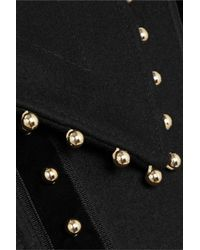 Altuzarra - Black Bead-embellished Velvet-trimmed Wool-blend Felt Cape - Lyst