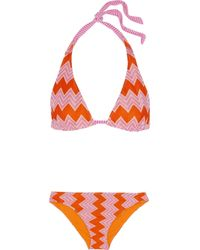 Missoni - Orange Mare Crochet-knit Halterneck Bikini - Lyst