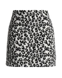 Maje - Multicolor Leopard-print Felt Mini Skirt - Lyst