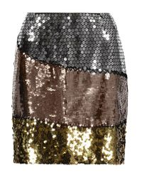 Moschino - Multicolor Sequined Silk Mini Skirt - Lyst