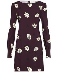 Goat - Multicolor Floral-print Crepe Mini Dress - Lyst