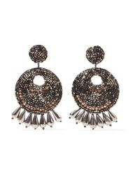 Kenneth Jay Lane - Metallic Burnished Gold-tone Bead Earrings - Lyst