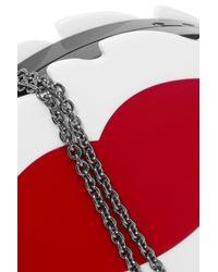 RED Valentino - Black Borsa Da Sera Perspex Clutch - Lyst