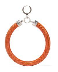 Isabel Marant - Orange Enameled Silver-tone Earrings - Lyst