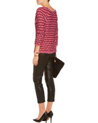 Maje - Red Marcel Jacquard-knit Sweater - Lyst
