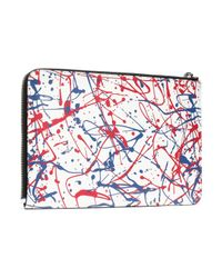 Marc Jacobs - White Printed Leather Tablet Case - Lyst