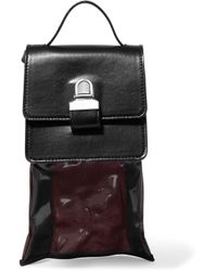 MM6 by Maison Martin Margiela - Black Small Leather Shoulder Bag - Lyst