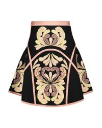 Hervé Léger - Black Leilani Jacquard-knit Mini Skirt - Lyst
