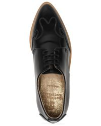 Brunello Cucinelli - Black Bead-embellished Leather Brogues - Lyst