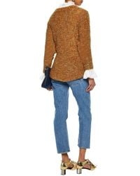 Sonia Rykiel - Woman Mélange Mohair-blend Bouclé Sweater Orange - Lyst