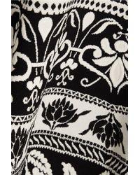Alexander McQueen - Black Jacquard Skirt - Lyst