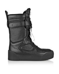Marc By Marc Jacobs | Black Leather Biker Boots | Lyst