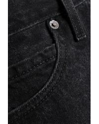 Levi's - Frayed Denim Mini Skirt Black - Lyst