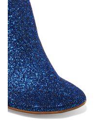 Vetements - Woman Metallic Stretch-knit Sock Boots Bright Blue - Lyst