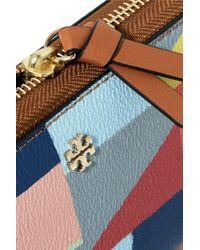 Tory Burch | Blue Kerrington Printed Leather Wallet | Lyst