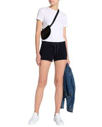 James Perse - Blue Woman Cotton-terry Shorts Navy - Lyst