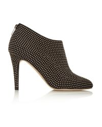 Jimmy Choo | Black Mendez Studded Suede Ankle Boots | Lyst