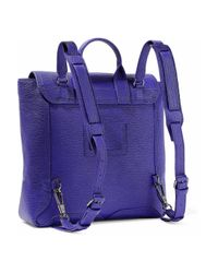 3.1 Phillip Lim - Woman Pashli Textured-leather Backpack Purple - Lyst
