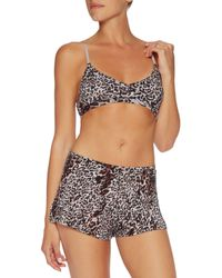 Skin - Brown Leopard-print Pima Cotton Bra Top - Lyst