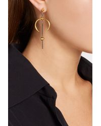 Maria Black - Metallic Hydra Medi Gold And Rhodium-plated Earring - Lyst