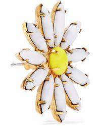 Elizabeth Cole - White 24-karat Gold-plated Stone Earrings - Lyst